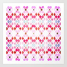 Diamond Geo Pinks & Blues Art Print