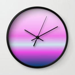 pink flamingo style Wall Clock