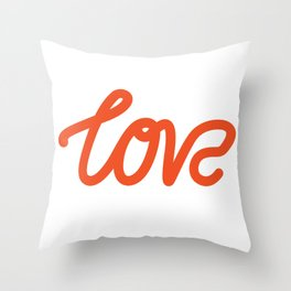 Love typography from The Love Series Throw Pillow