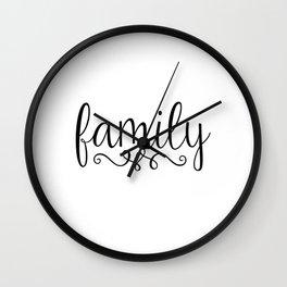 Family Script Wall Clock