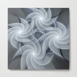 Fractal abstract with pinwheels Metal Print