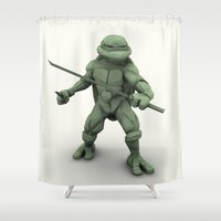 ninja turtle Shower Curtains featuring ninja turtle by aterg88