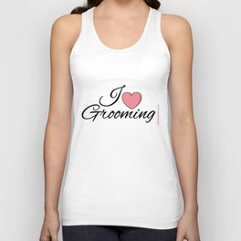 I Love Grooming Unisex Tank Top