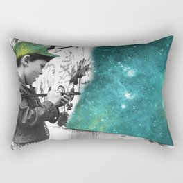 KID PAINTING THE UNIVERSE Rectangular Pillow