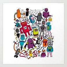 Robots 2 Art Print