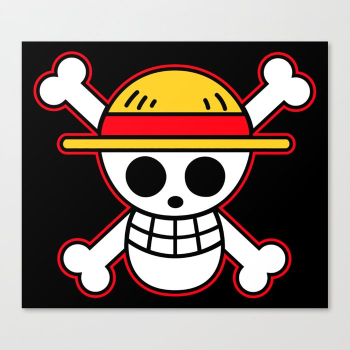 Straw Hat Flag Canvas Print By Pringpetungg Society6