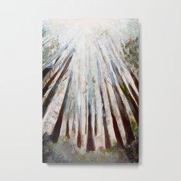 Still life Abstract, trees light fog Metal Print