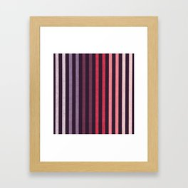 FUN STRIPES-COBALT CARMINE Framed Art Print