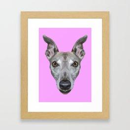 Whippet // Lilac (Vespa) Framed Art Print