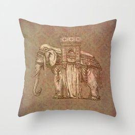 Elephant Bastille Throw Pillow