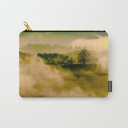 Foggy Parallax Hills With Trees Carry-All Pouch