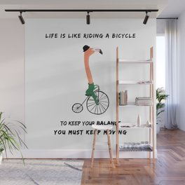 Life is like a bicycle Wall Mural