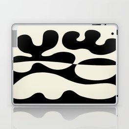 Mid Century Modern Organic Abstraction 235 Black and Linen Laptop & iPad Skin