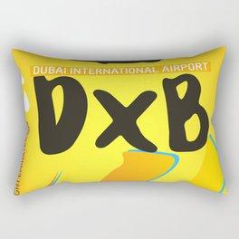 DXB Dubai airport code Rectangular Pillow