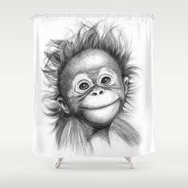 Monkey - Baby Orang outan 2016 G-121 Shower Curtain