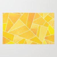 sunshine Area & Throw Rugs featuring Sunshine by Elisabeth Fredriksson