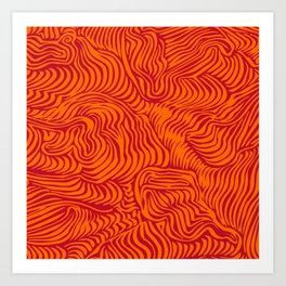 orange red flow Art Print