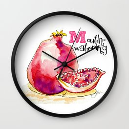 M is for Mouthwatering Wall Clock
