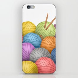 Two Crochet Hooks And A Lot Of Yarn iPhone Skin