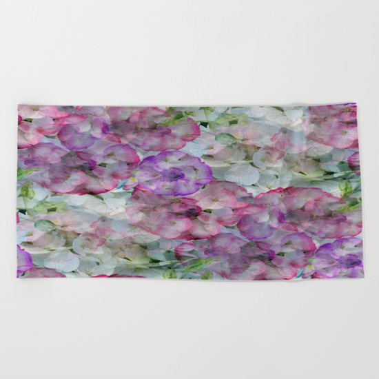 Mesmerizing Floral Abstract Beach Towel