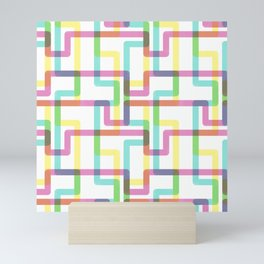 Rainbow Tubes Mini Art Print
