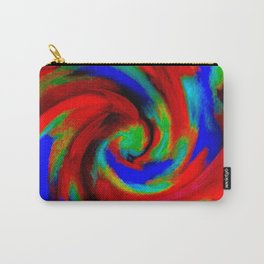 Red Blue Green Fireball Sky Explosion Carry-All Pouch
