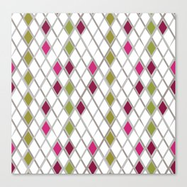 Diamond Wrapping Paper Canvas Print