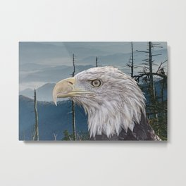 Bald Eagle in the Mountains Metal Print