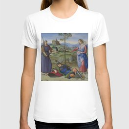 "Raffaello Sanzio da Urbino ""Vision of a Knight (The Dream of Scipio or Allegory)"", circa 1504-1505 T-shirt"