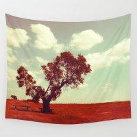 ashton irwin Wall Tapestries featuring Waiting #2 by Schwebewesen • Romina Lutz