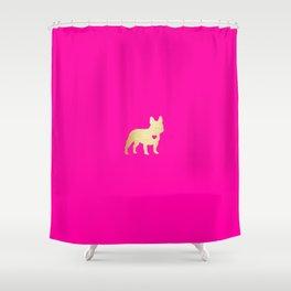 French Bulldog Gold Shower Curtain