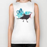 turkey Biker Tanks featuring Cold Turkey by Chelsea Herrick