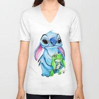 ohana V-neck T-shirts featuring Ohana  by Inks. MD