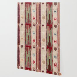 Arcade Star Kilim // 17th Century Colorful Muted Lime Green Southwest Cowboy Ornate Accent Pattern Wallpaper