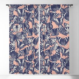 butterfly pale coral Blackout Curtain