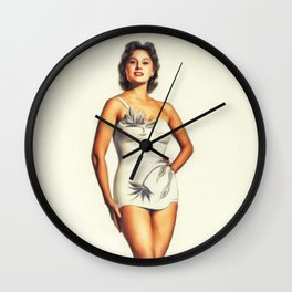 Rhonda Fleming, Vintage Actress Wall Clock