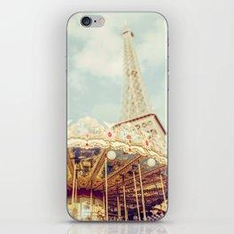 Eiffel Tower & Carousel photography paris iPhone Skin