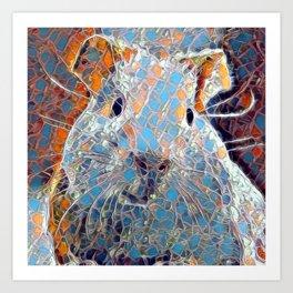 Mosaic - Guinea Pig Art Print