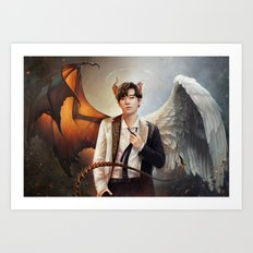 Kim Sunggyu - Demon & Angel Art Print