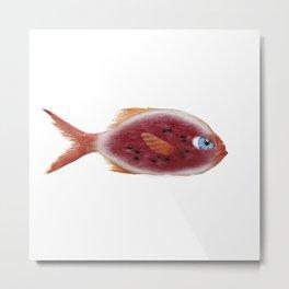 Fish Watermelon Metal Print
