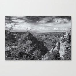 Grand Canyon No. 7 bw Canvas Print