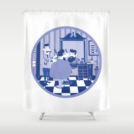 Barber hipster Shower Curtain