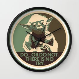 Yoda For President Wall Clock