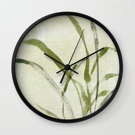 beach weeds Wall Clock