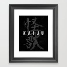 KAIJU Framed Art Print