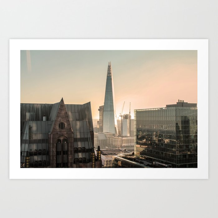 Orange The Shard London ArtWork Art Print