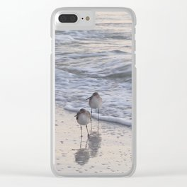Sandpipers  Clear iPhone Case