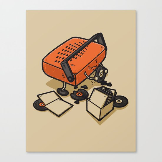 RECORD EATER Canvas Print