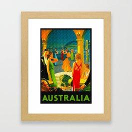 Vintage Sydney Australia Travel Framed Art Print