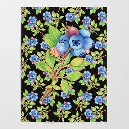 Wild Blueberry Sprigs Poster